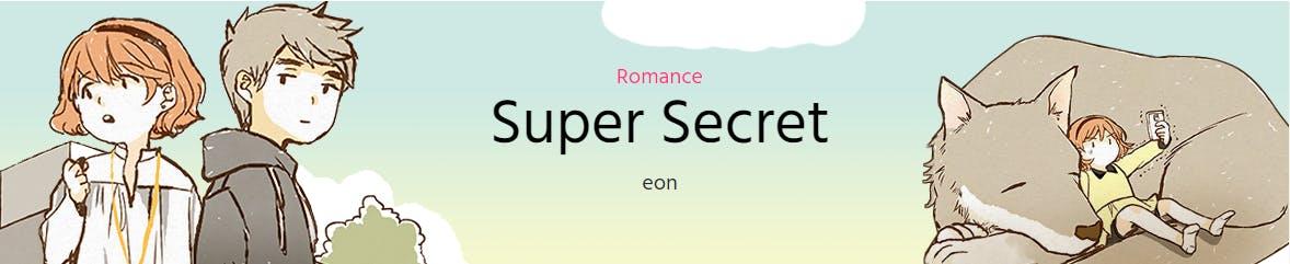 Super Secret banner screencapped from Webtoon