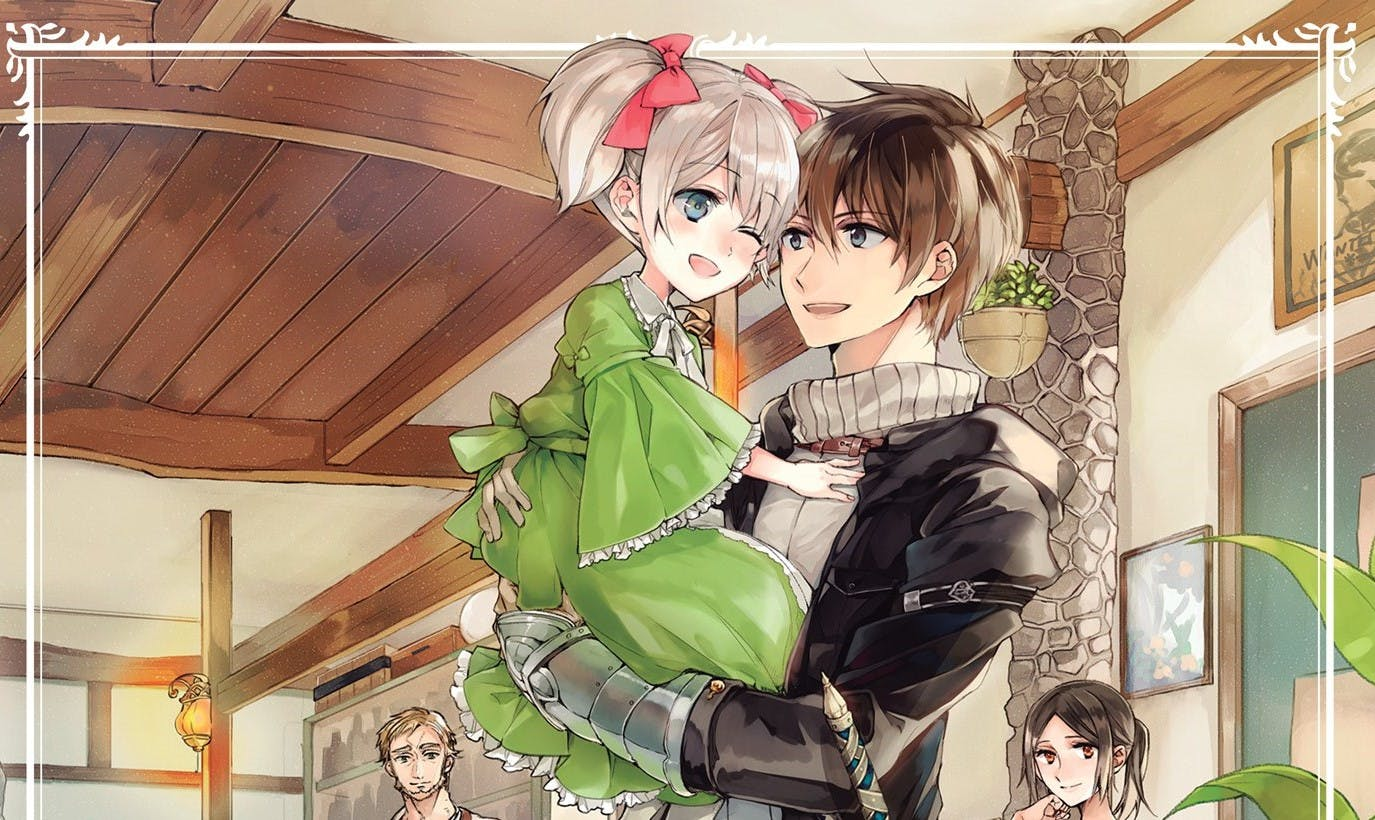 Dale and Latina on the light novel's first volume cover