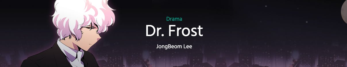 Dr. Frost banner in Webtoon
