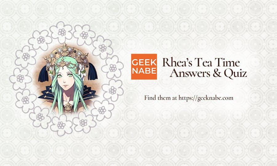 Rhea's banner in full glory.