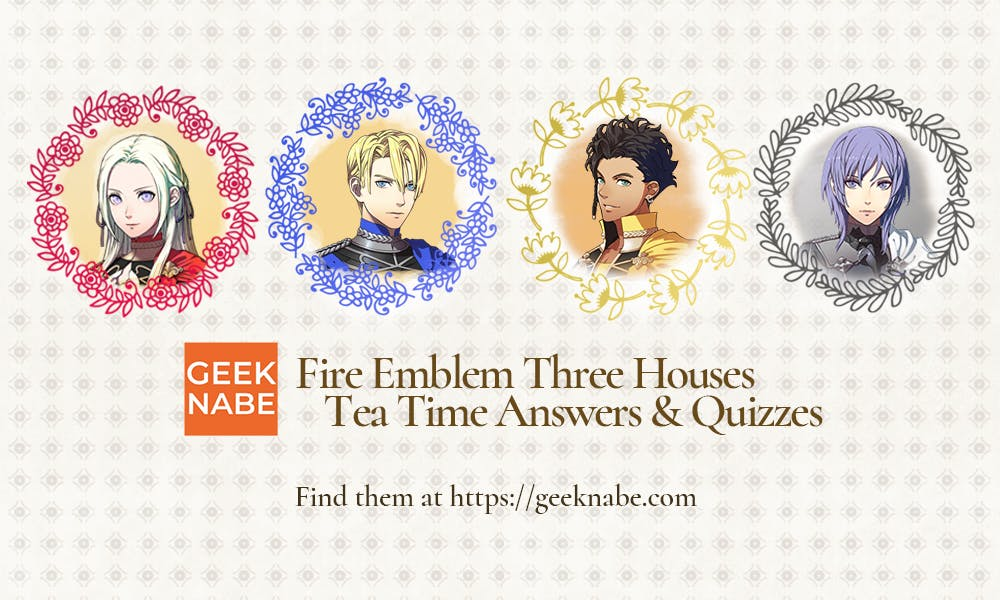 Edelgard, Dimitri, Claude and Yuri from Fire Emblem Three Houses.