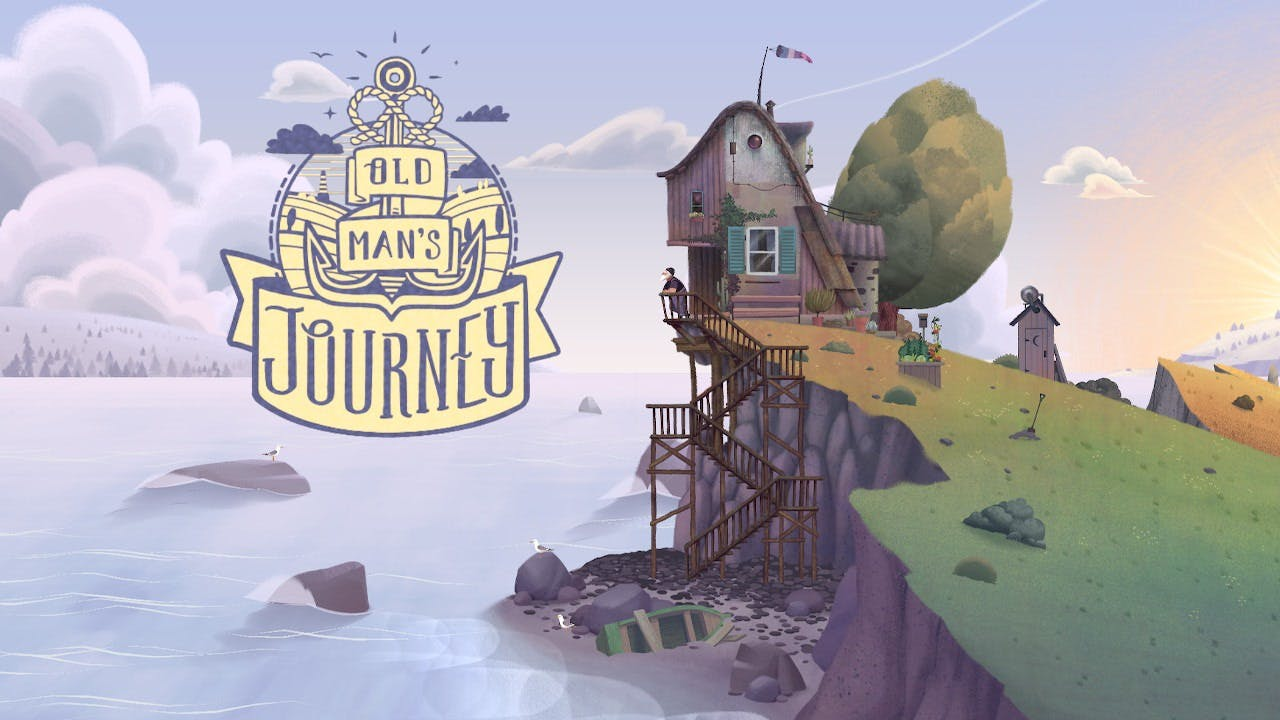 A very lovely design based of an anchor is what makes up Old Man's Journey logo.