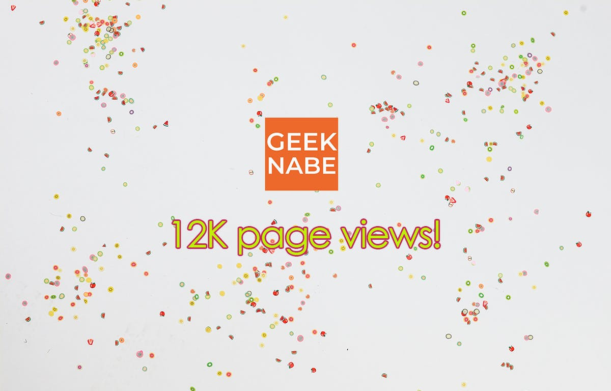 geeknabe hit 12K page views during April 2020!