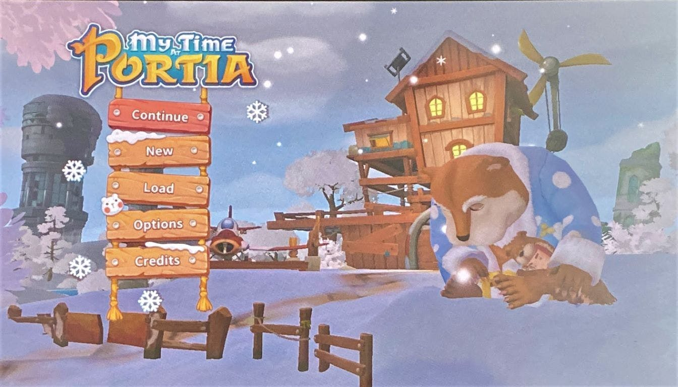 My Time at Portia opening screen