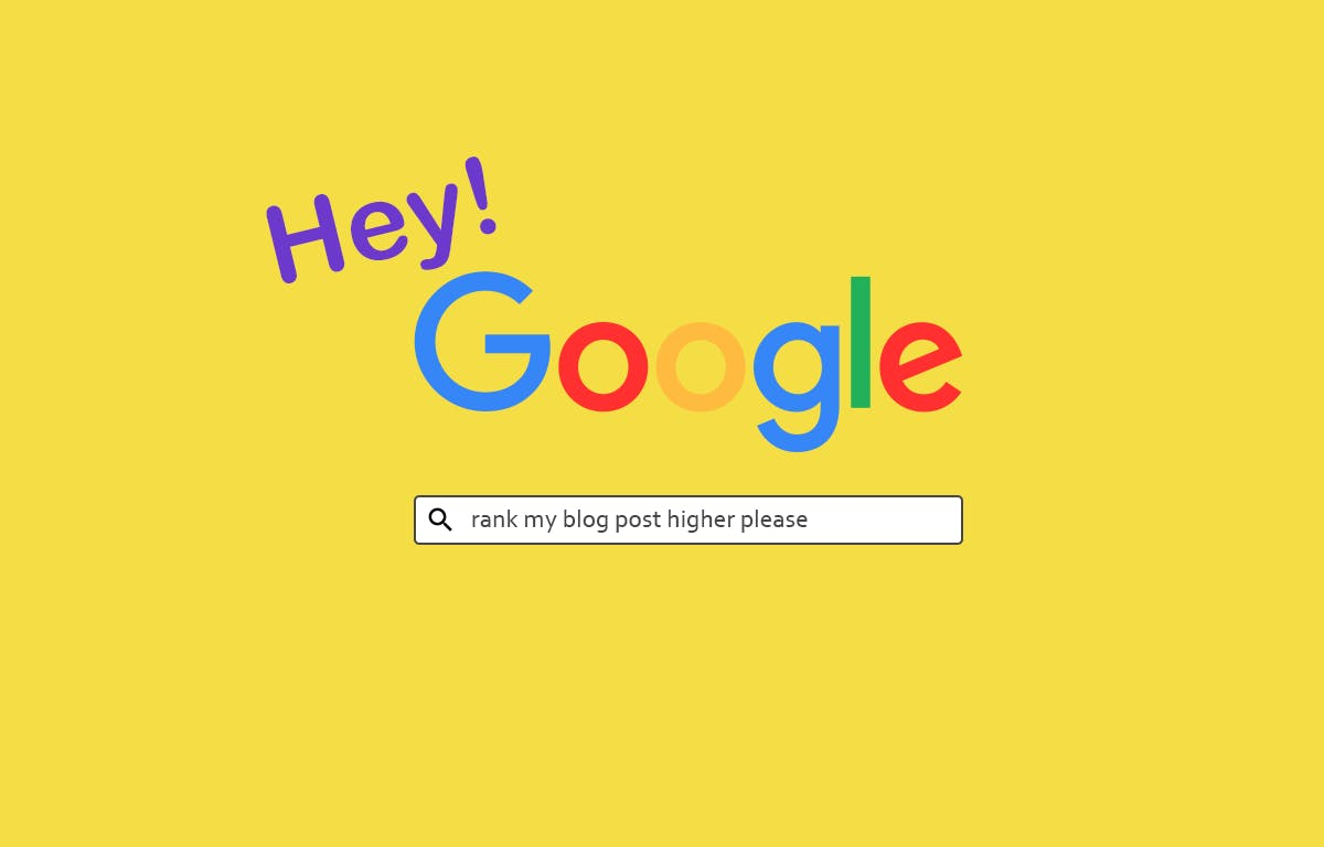 Make Google like you. Add keywords at the spots the bots can see!