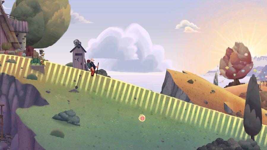 Old Man's Journey starting scene