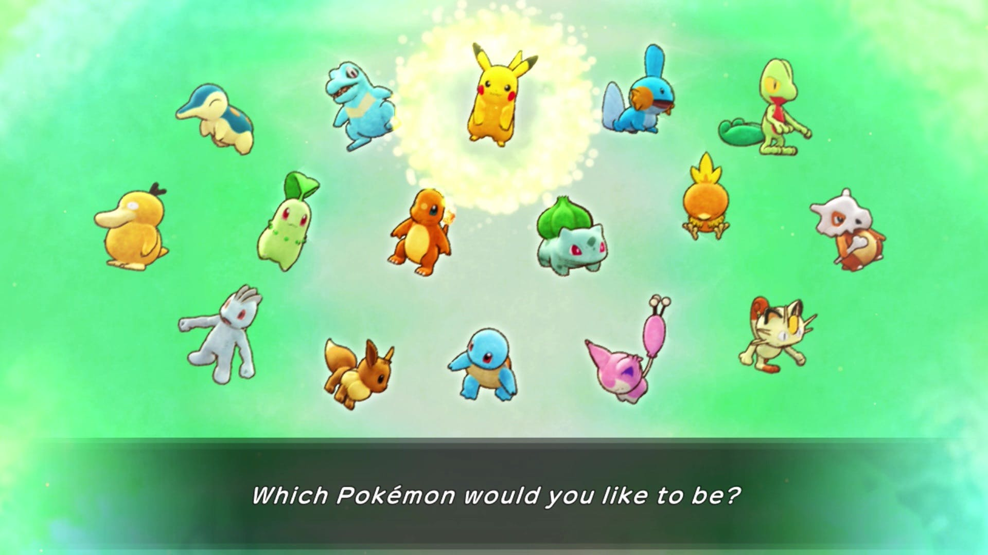 Pokemon Mystery Dungeon: Rescue Team DX got their quiz back! But it's redundant since I could just choose which Pokemon I want anyway...