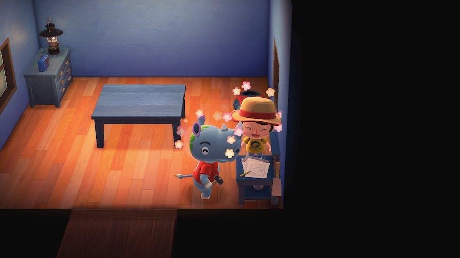 Animal Crossing villager, Tank. He's a muscle nut but he is still cute.
