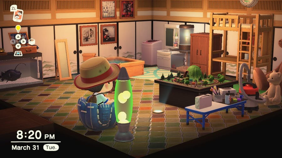 Animal Crossing: New Horizons rooms in house
