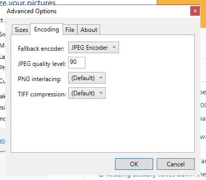Image Resizer Advanced Options