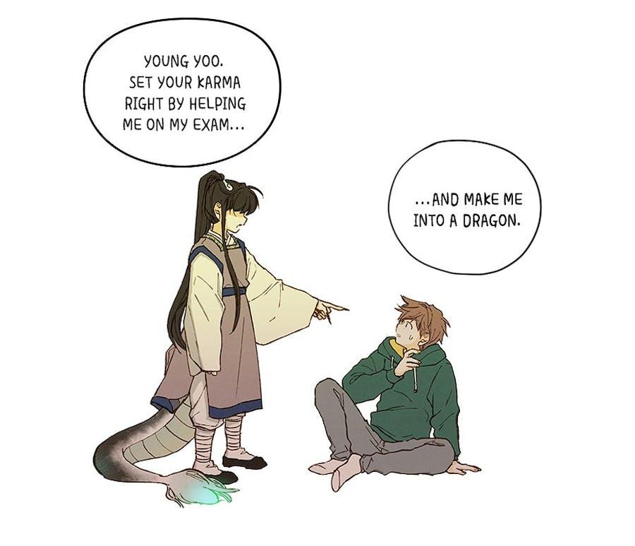 Bari demanding Young help him pass the dragon test