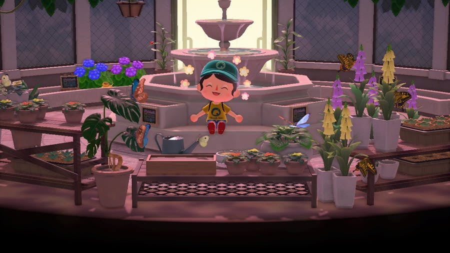 Animal Crossing: New Horizons museum butterfly area