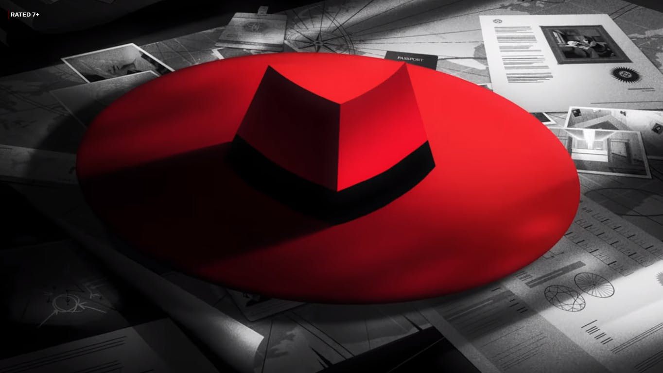Carmen's striking red hat from the opening. Rated 7+, for every kid at heart.