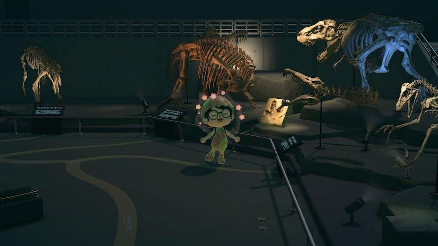 Animal Crossing: New Horizons prehistorical fossil area