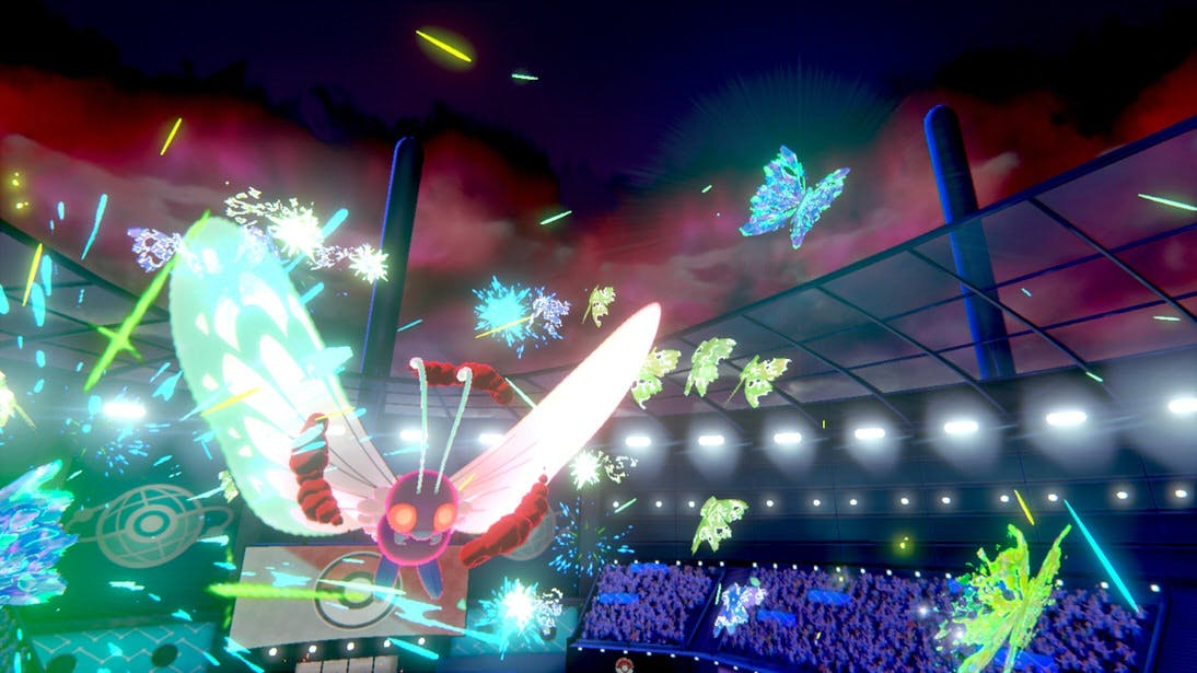 Gigantamax-ed Butterfree in action from Pokémon Sword and Pokémon Shield, releasing on 15th November 2019.