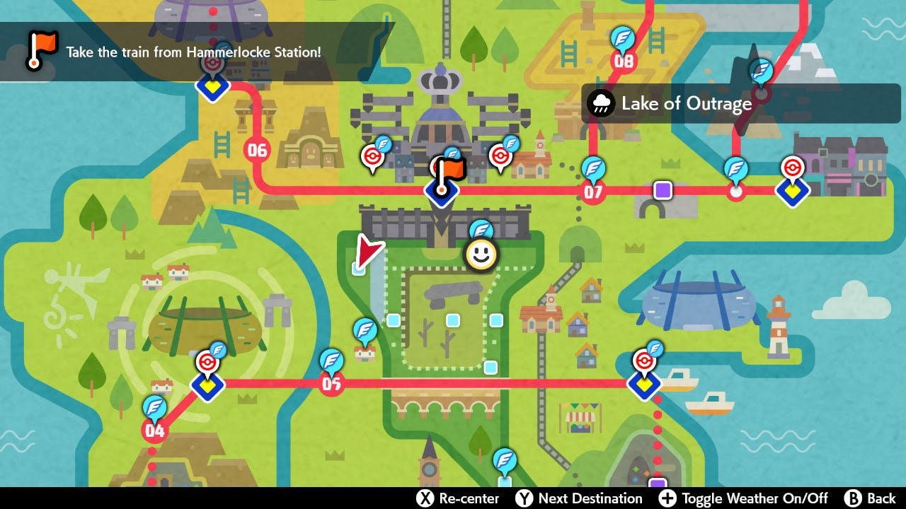 Here's the map of Wild Area with Lake of Outrage in it