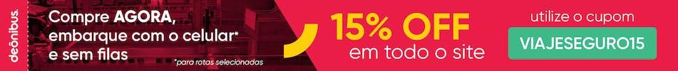 15% de desconto - desk - com logo