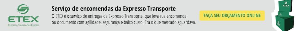 Banner de serviço de encomenda da Expresso Transporte