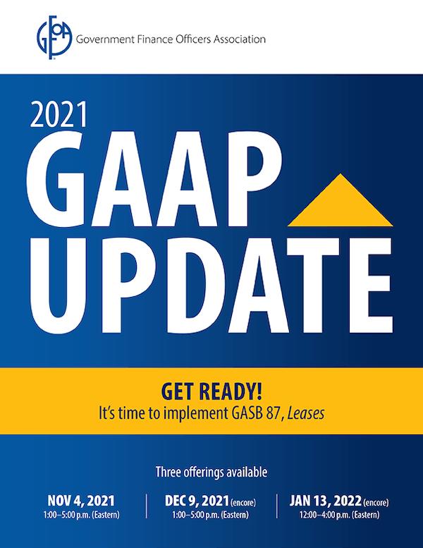 2021 GAAP Update Registration Form and Brochure
