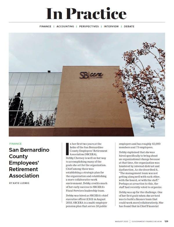 In Practice: San Bernardino County Employees' Retirement Association