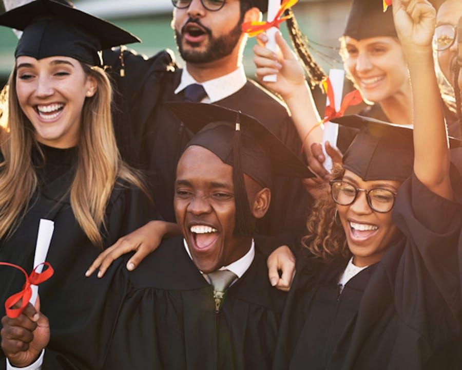 Photo of college graduates.