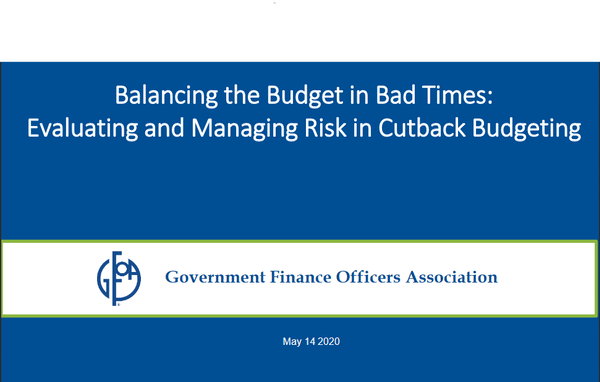 Balancing the Budget in Bad Times: Evaluating and Managing Risk in Cutback Budgeting