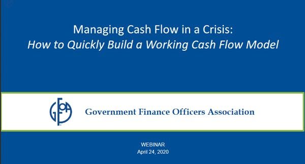 Managing Cash Flow in a Crisis: How to Quickly Build a Working Cash Flow Model