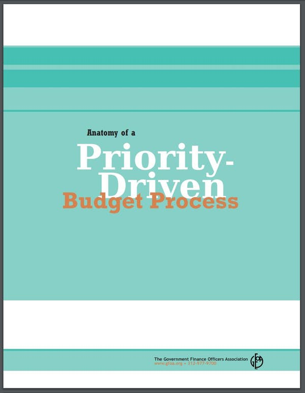 Anatomy of a Priority-Driven Budget Process