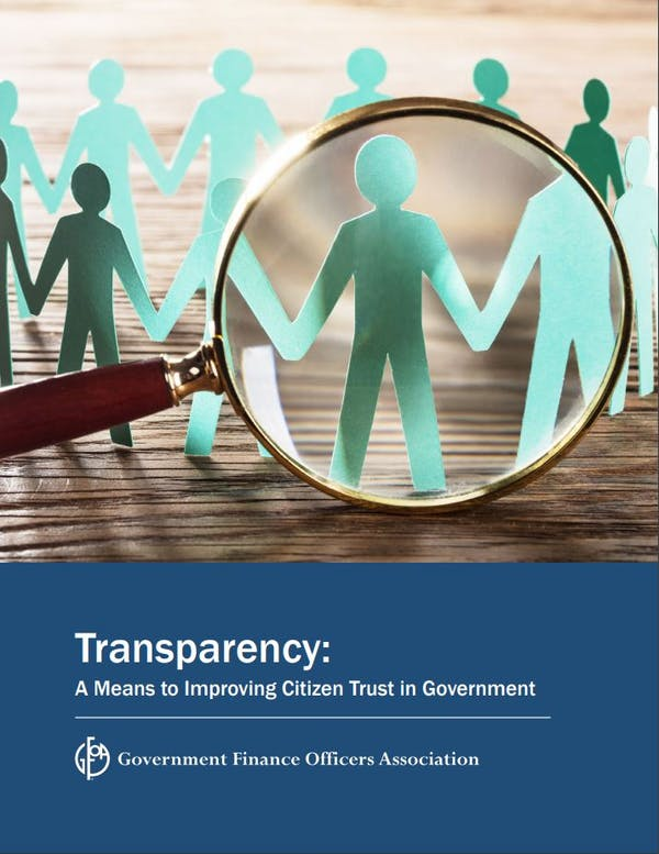 Transparency: A Means to Improving Citizen Trust in Government