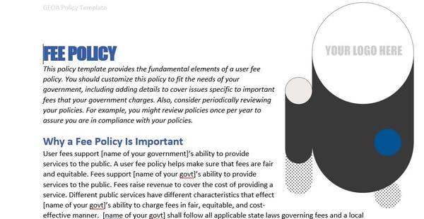 Fee Policy Example