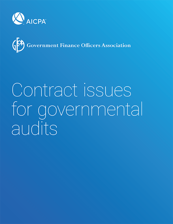 Contract Issues For Governmental Audits