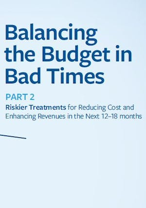 Balancing the Budget in Bad Times - Part 2