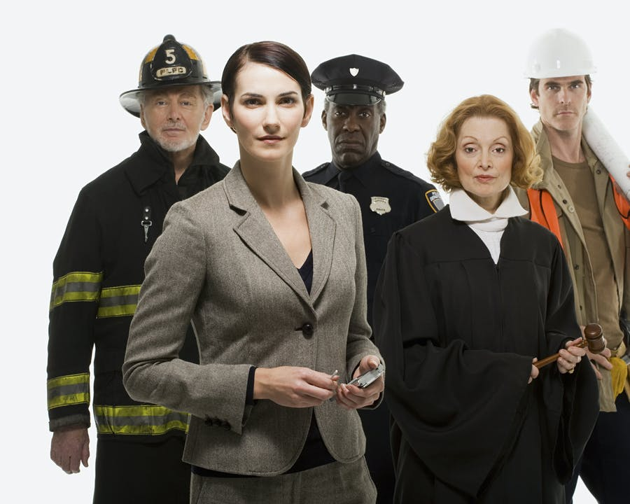Image of different government workers.