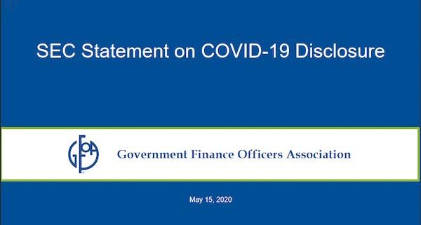 SEC Statement on COVID-19 Disclosure