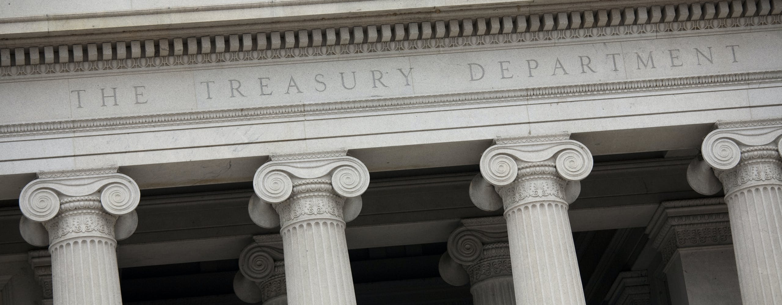 Photo of Treasury Building.