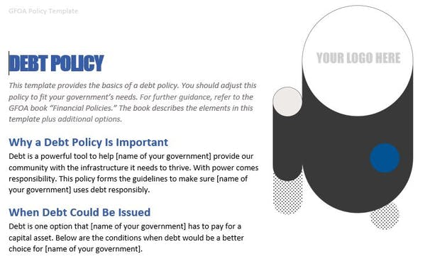 Debt Policy Template