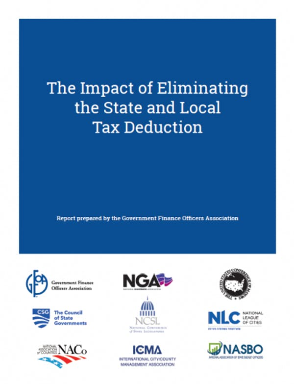 The Impact of Eliminating the State and Local Tax Deduction Report
