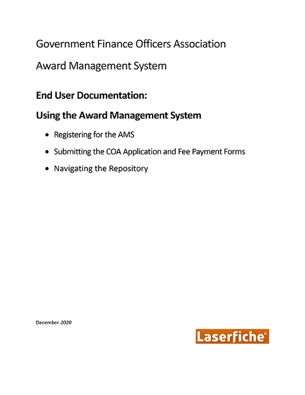 End User Documentation for Using the Awards Management System