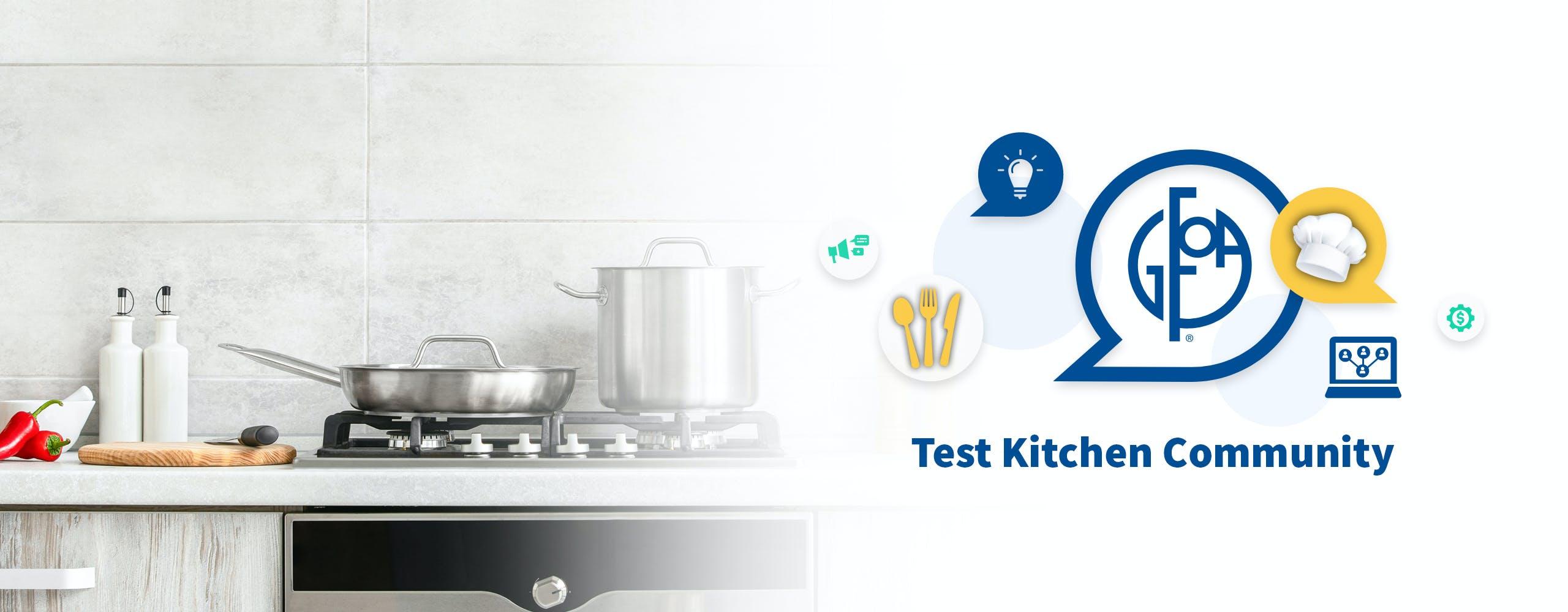 Photo of Kitchen and Test Kitchen Community Logo