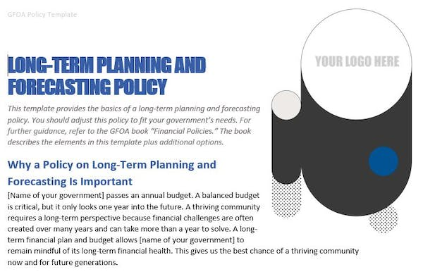 Long-Term Planning and Forecasting Policy