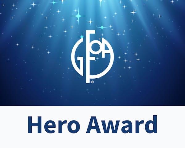 GFOA Logo with Hero Award words.