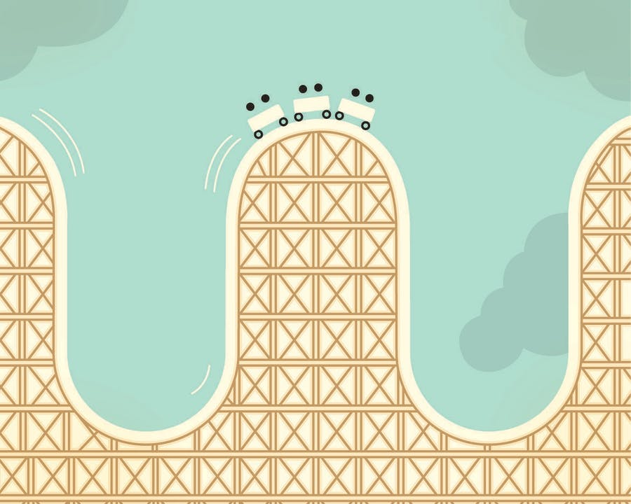 roller coaster graphic