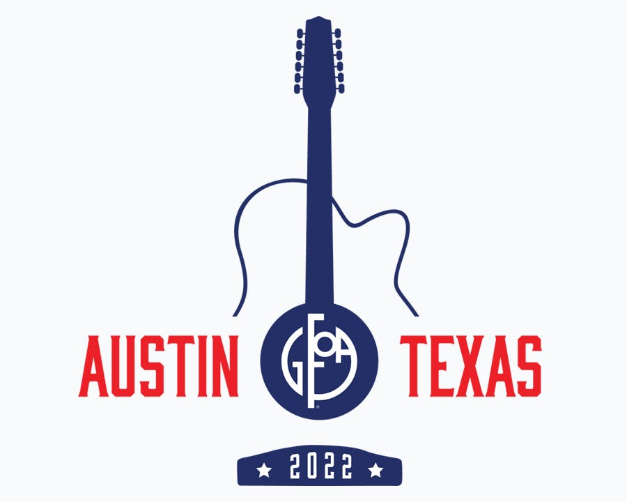 Photo of Guitar with words Austin Texas 2022