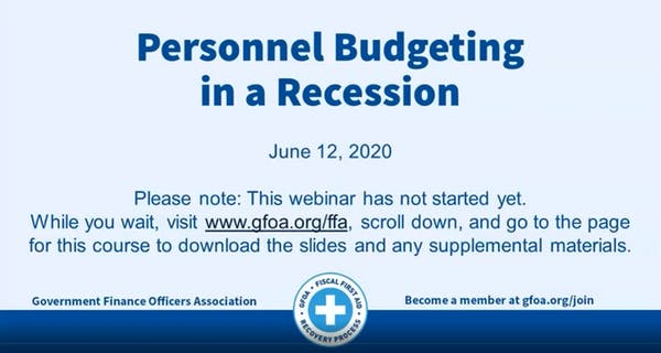 Personnel Budgeting in a Recession