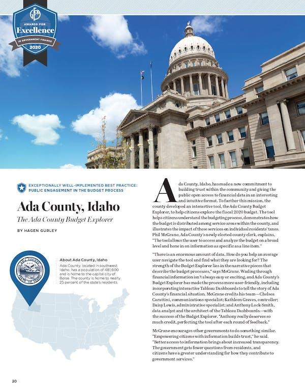 Ada County GFR Article
