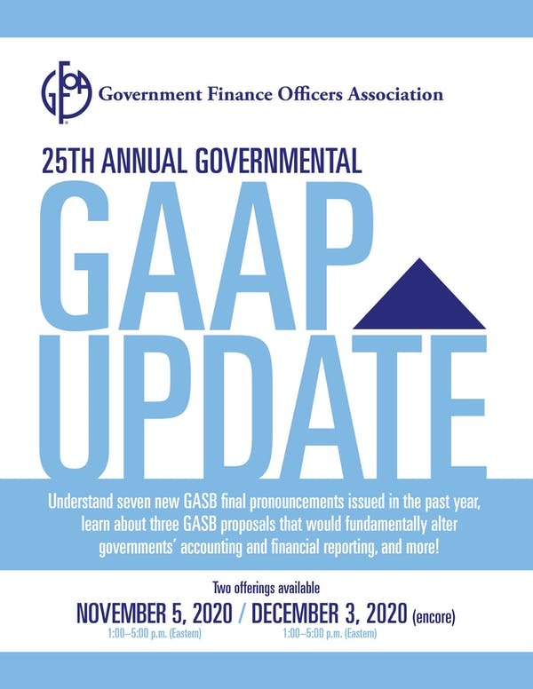 25th Annual Governmental GAAP Update Registration Form