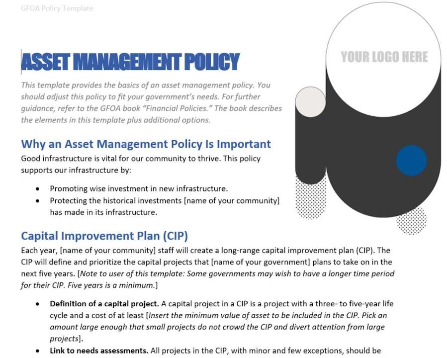 GFOA Policy Template