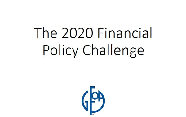 Take the 2020 Financial Policy Challenge