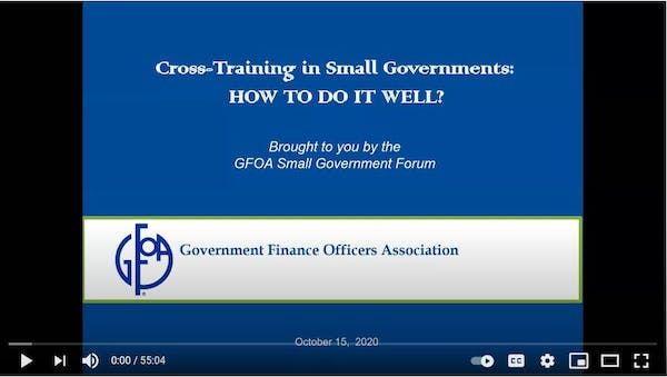 Cross Training in Small Governments