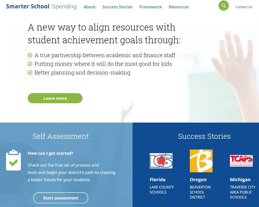 Image of www.smarterschoolspending.org